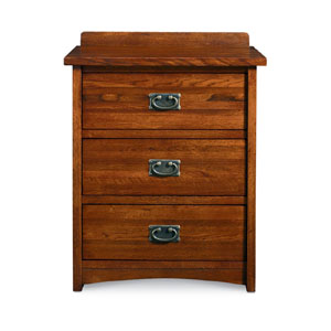 Mission Oak 3 Drawer Nightstand