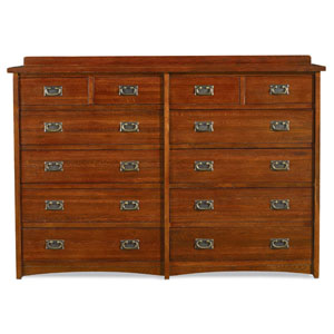 Mission Oak 12 Drawer Dresser
