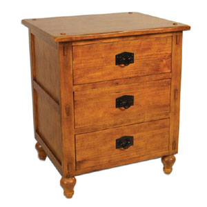 Bali 3 Drawer Nightstand