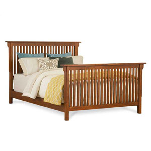 Arts and Crafts King Slat Bed