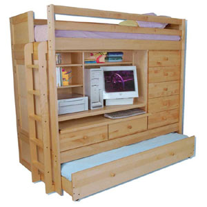 Birch Youth Birch Computer Loft Bed