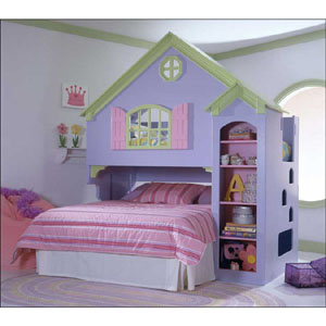 Painted Doll House Bed