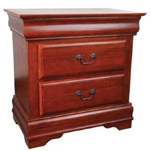 Louie Philippe 2 Drawer Nightstand