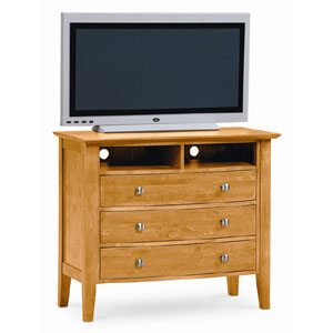 Vermont 3 Drawer TV Media Chest In Natural Finish