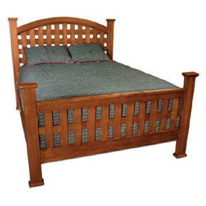 Riverwood Lattice Queen Bed